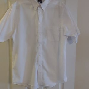 Men's Izod White Short Sleeve Shirt